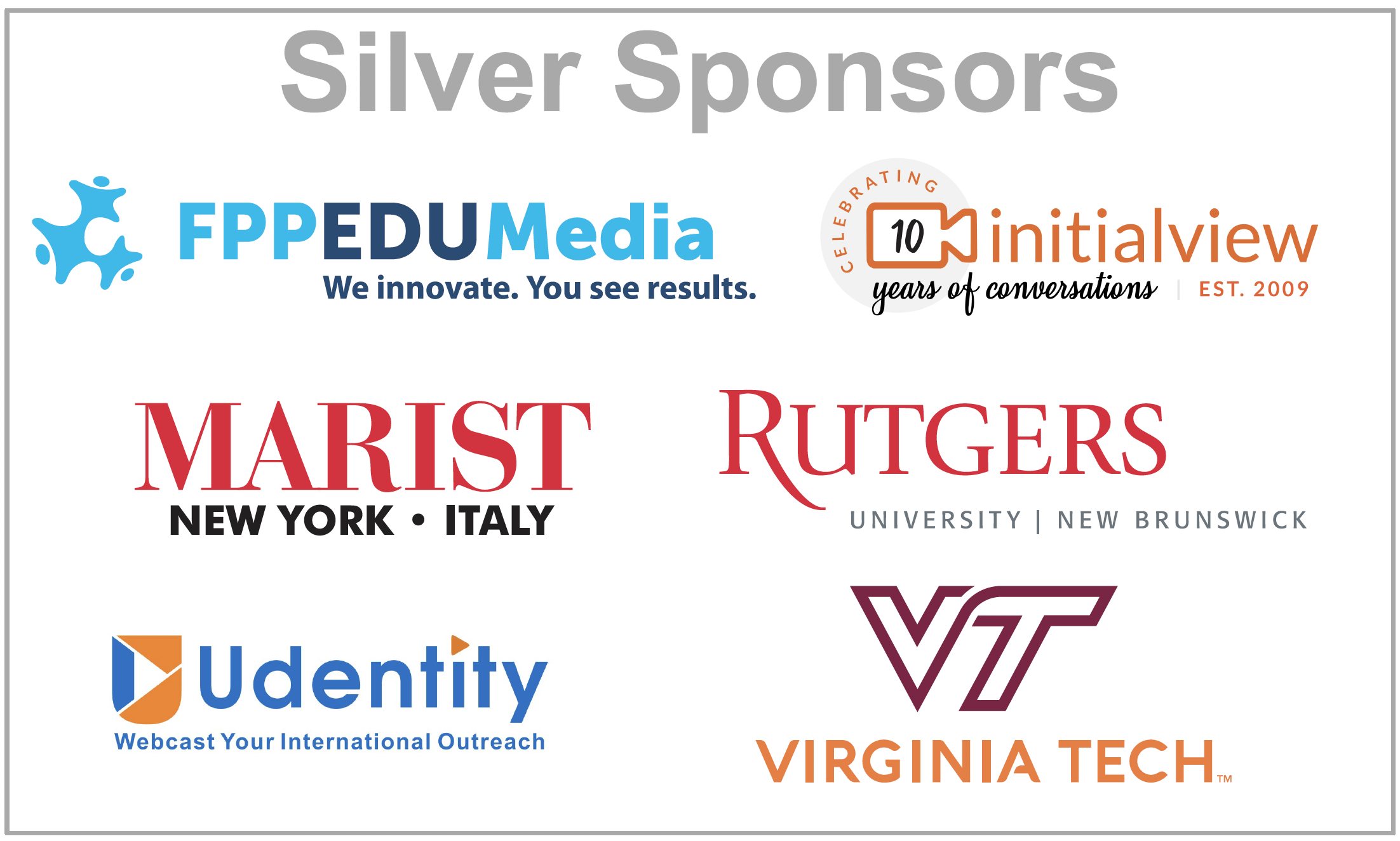 The View Sponsors List 2020.2019 Conference